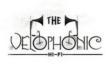 The Velophonic Hi-Fi / Here's a selection of work showing some of the designs I came up with while working on branding for the amazing Velophonic Hi-Fi.
