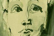 Marjanne Beeuwkes - Portraits / drawings in Indian ink    [www.marjannebeeuwkes.com]