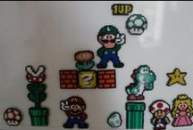 Hama Mini Super Mario / Characters, blocks, power-ups and other stuff from Super Mario