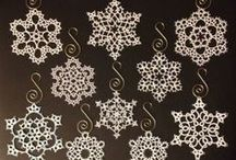 Tatted snowflakes / My great Aunt Evie taught me how to tat when I was 12 years old. Snowflakes are some of the most beautiful examples of this forgotten craft.