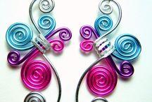 Wire Work Earrings / Wire wrapping earrings