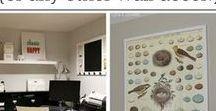Gallery Wall / Creative wall decorating ideas!