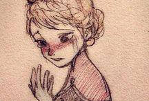 DRAWiiNG✏️PEOPLE / Drawing all kinds/ dessin en tout genre.