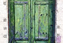 Vintage Doors on Greek Island, Zakynthos / Vintage home decor, great inspairatiom