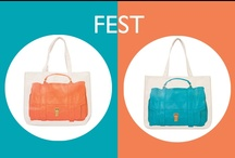 Fest Series / A Collection of our FEST Canvas bags in Super Together, Together, Mini together and Here Pochettes
