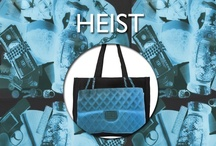 Heist / A Collection of our HEIST Black Canvas bags in Super Together, Together and Here Pochettes