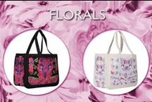 Florals / A Collection of our FLORAL Canvas bags in  Together and Here Pochettes