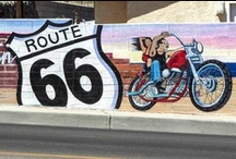 Route 66 Murals / Route 66 Murals - We have one our site as well.  http://www.route66motelbarstow.com/route-66-mural.html