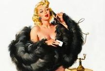 Art theme: Pin ups / I love the humor in the pin up drawings - especially Hilda (the only known ample size icon in pin-up history) / by Nille Franck