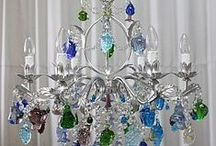 Fruit Chandeliers / Beautiful, and quirky! You are able to chose your own frame and fruit colours to ensure your fruit chandelier is right for you! http://www.italian-lighting-centre.co.uk/