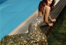 mermaid dresses / look like a mermaid risen from the sea