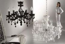 Monochrome magic / Black and white, a terrific combination for interiors, and fabulous with a pop of colour!