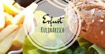 ♡ Erfurt kulinarisch / Erfurt hat nicht nur eine wunderschöne Altstadt, sondern auch aus kulinarischer Sicht einiges zu bieten. Auf diesem Board findest du jede Menge Inspirationen, die definitiv Lust auf eine kulinarische Entdeckungsreise machen.
