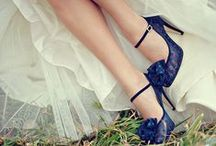 Bridal shoes with a splash of colour!