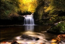 Waterfalls / There is no other sound that soothes me like the sound of water either trickling or pounding down over the rocks in a dazzling display of beauty. / by Cindy Kane