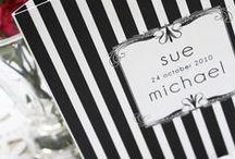 Black + white weddings