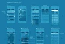 Wireframes / User interface design sketches for the web and mobile applications.