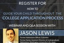 Sign up for our Webinars! / Sign up for our webinars to learn helpful information on the admissions process for college, law school, business school, and medical school