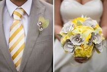 Soft grey and buttercup yellow / Soft grey and buttercup yellow wedding colour inspiration