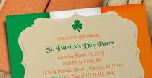 St. Patrick's Day Invitation Templates & More / Cute DIY invitations and cards for St. Patrick's Day that can be downloaded and printed from your home printer.  #stpatricksday #stpattysday #stpatricks #invitations #invitationtemplates #irish