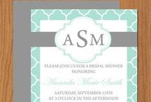 Bridal Shower Invites and More / Printable and editable Microsoft Word bridal shower invitations and more