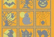 Halloween au point de croix