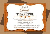 Thanksgiving Invitation Templates and More / Microsoft Word Thanksgiving invitation templates and party decorations.