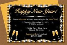 New Year's Invitation Templates and More / DIY Microsoft Word invitations and party ideas of celebrating New Years