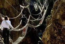 Tibetan bridge ponte tibetano / Tibetan bridge ponte tibetano ponti di corde  ponti improvvisati