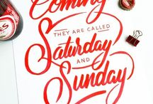 Typography, lettering, graphic design...