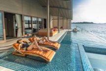 Villas de Finolhu- Club Med, Maldives / Warisan Custom Furniture with Yuji Yamazaki Design @  Villas de Finolhu - Club Med, Maldives