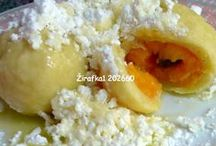 Sladká jídla / Ovocné knedlíky, koláče, palačinky, buchty, vánočky, vdolečky, koblihy, žemlovky, lívance, škubánky.....