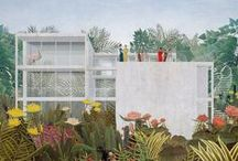 illustrations. / architecture collage | architecture illustration | patterns