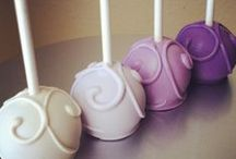 upside down pops / upside down cake pops with ball side down are great for paltered food for a grab and go style.