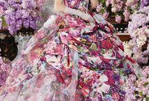 Pretty dresses / Lots of pretty clothes that I like.