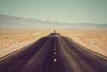 "On The Road / ""Nothing behind me, everything ahead of me, as is ever so on the road."" ― Jack Kerouac, On the Road"