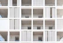 Fassadenelemente / Fassade, Elemente, gegliedert, Fertigteile, Verschattung, Bausteine