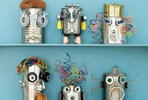 Fun kids things / #children love to use their #imagination. These #robot inspired ideas are great for #kids. #crafts #books