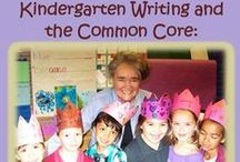 """Kindergarten Writing and the Common Core / Joyful Pathways to Narrative, Opinion, and Information Writing: This entire board features images from Nellie Edge's new book, """"Kindergarten Writing and the Common Core"""" and kindergarten writing seminar. / by Nellie Edge"""