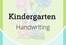 Kindergarten Handwriting / Kindergarten Handwriting Best Practices + Morning Work Activities | Curriculum Options | It is vital that teachers give children the gift of legible handwriting habits right from the start of their journey as writers. We disadvantage children if they do not have an efficient pencil grip, good handwriting skills, & sentences fluency by the end of kindergarten. Free videos, worksheets, printable handwriting practice pages, and writing rubrics at nellieedge.com/kindergarten-friendly-handwriting/