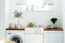 Laundry Rooms! / Laundry is a never fun, but we think that's all the more reason to create a space that is functional and beautiful!  / by Porchdotcom