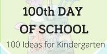 100th Day of School / 100th Day of School: 100 Ideas for Kindergarten | Fine Motor | Learn how to celebrate the 100th day of school in kindergarten and first grade with art centers, counting activities, and imaginative writing connections. Have fun with 100 simple projects, creative ideas, and free printables from Nellie Edge Kindergarten Writing Seminars. www.NellieEdge.com
