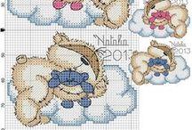 Cross Stitch Bears / Cute bears for cross stitching