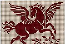 Cross Stitch Horse & Unicorn / Horse patterns for cross stitching