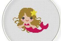 Cross Stitch Mermaids