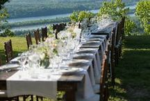 Farm Table Wedding / We had a gorgeous wedding this weekend at Gorham's Bluff, AL with farm tables set up at the reception overlooking the Tennessee River. / by GorhamsBluff