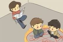Supernatural <3 / Anything and everything about the TV program Supernatural! If you dont watch it then please don't be offended when i say i LOVE Lucifer and Death also the king of hell is awesome, most angels are dicks and im pretty sure God is a alcoholic writer! / by Jenna-mae Matthews
