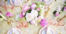 Tablescape Dreams / Fairytale and beautiful wedding tables to swoon over! Wedding table settings decoration, rustic, gold, vintage flowers, diy