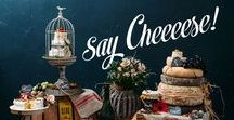 Cheese and Crackers / Want an alternative to cake- try a towering cake of cheese! Here are some ideas for presenting your cheese cake on your wedding day.