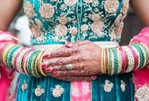 Indian weddings / Indian weddings, bindi, hair pieces, colour schemes, inspirations and ideas